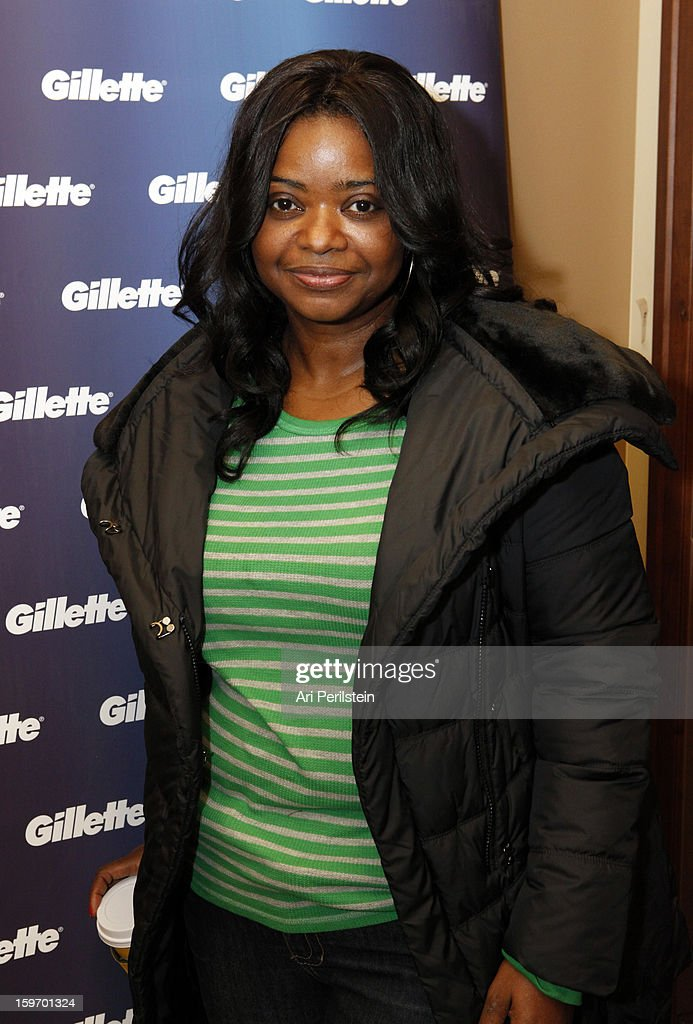 Actress <a gi-track='captionPersonalityLinkClicked' href=/galleries/search?phrase=Octavia+Spencer&family=editorial&specificpeople=2538115 ng-click='$event.stopPropagation()'>Octavia Spencer</a> attends Day 1 of Gillette Ask Couples at Sundance to 'Kiss & Tell' if They Prefer Stubble or Smooth Shaven on January 18, 2013 in Park City, Utah.