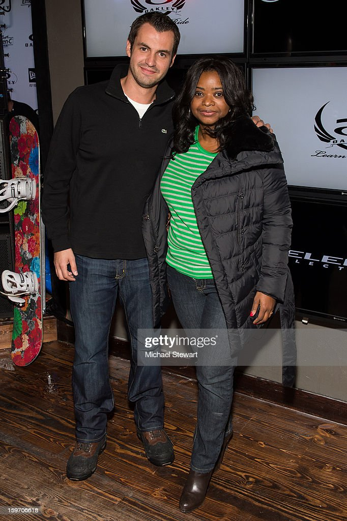 Actress Octavia Spencer (R) attends Oakley Learn To Ride In Collaboration With New Era - Day 1 - 2013 Park City on January 18, 2013 in Park City, Utah.