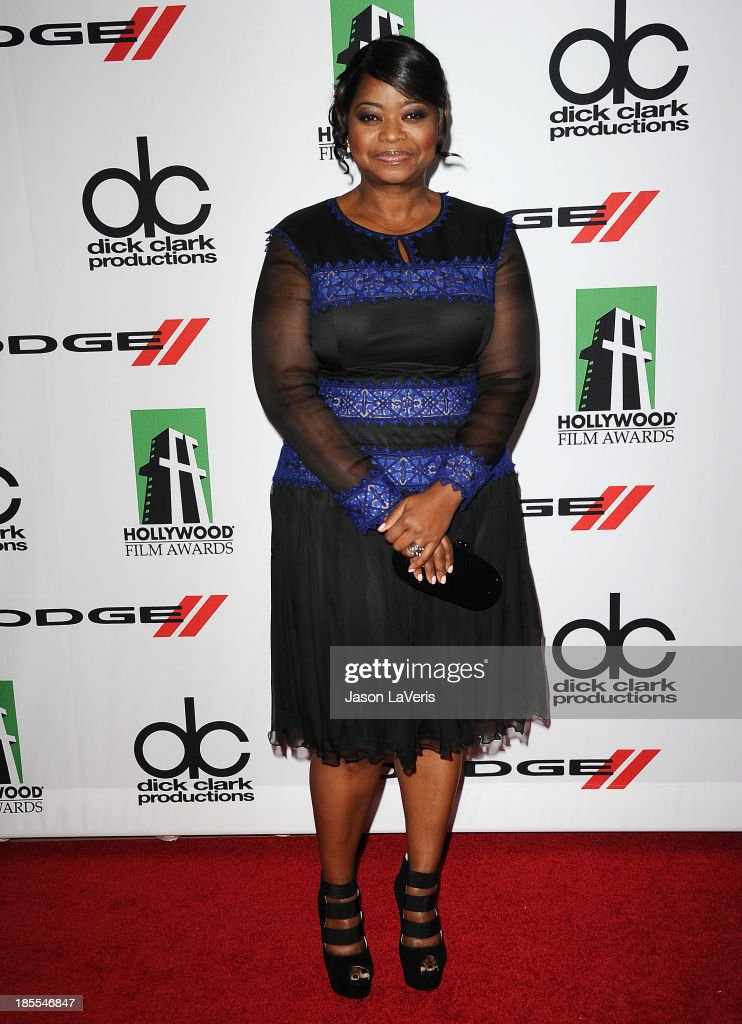 Actress <a gi-track='captionPersonalityLinkClicked' href=/galleries/search?phrase=Octavia+Spencer&family=editorial&specificpeople=2538115 ng-click='$event.stopPropagation()'>Octavia Spencer</a> attends the 17th annual Hollywood Film Awards at The Beverly Hilton Hotel on October 21, 2013 in Beverly Hills, California.