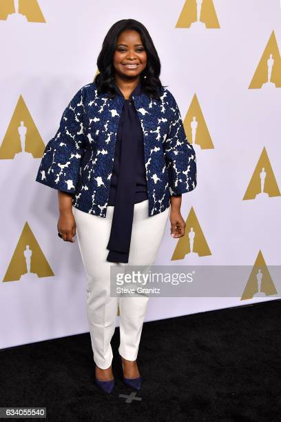 Actress Octavia Spencer attends the 89th Annual Academy Awards Nominee Luncheon at The Beverly Hilton Hotel on February 6 2017 in Beverly Hills...