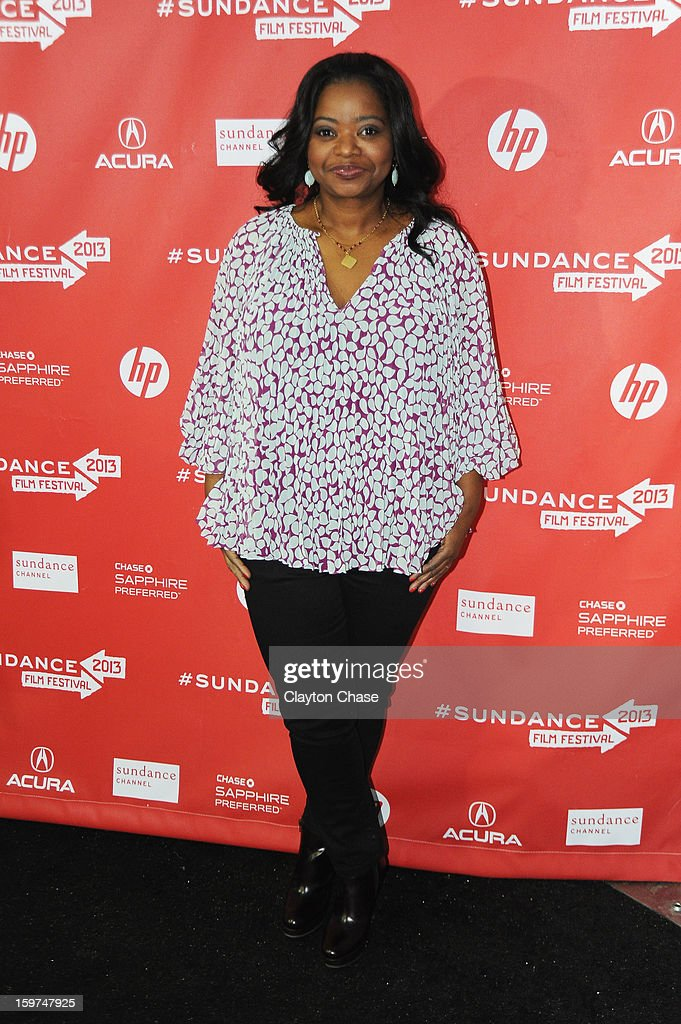Actress <a gi-track='captionPersonalityLinkClicked' href=/galleries/search?phrase=Octavia+Spencer&family=editorial&specificpeople=2538115 ng-click='$event.stopPropagation()'>Octavia Spencer</a> attends the 'Fruitvale' premiere at The Marc Theatre during the 2013 Sundance Film Festival on January 19, 2013 in Park City, Utah.