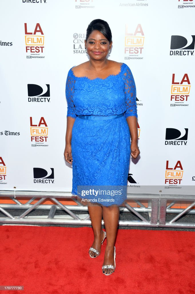 Actress <a gi-track='captionPersonalityLinkClicked' href=/galleries/search?phrase=Octavia+Spencer&family=editorial&specificpeople=2538115 ng-click='$event.stopPropagation()'>Octavia Spencer</a> attends the 'Fruitvale Station' premiere during the 2013 Los Angeles Film Festival at Regal Cinemas L.A. Live on June 17, 2013 in Los Angeles, California.