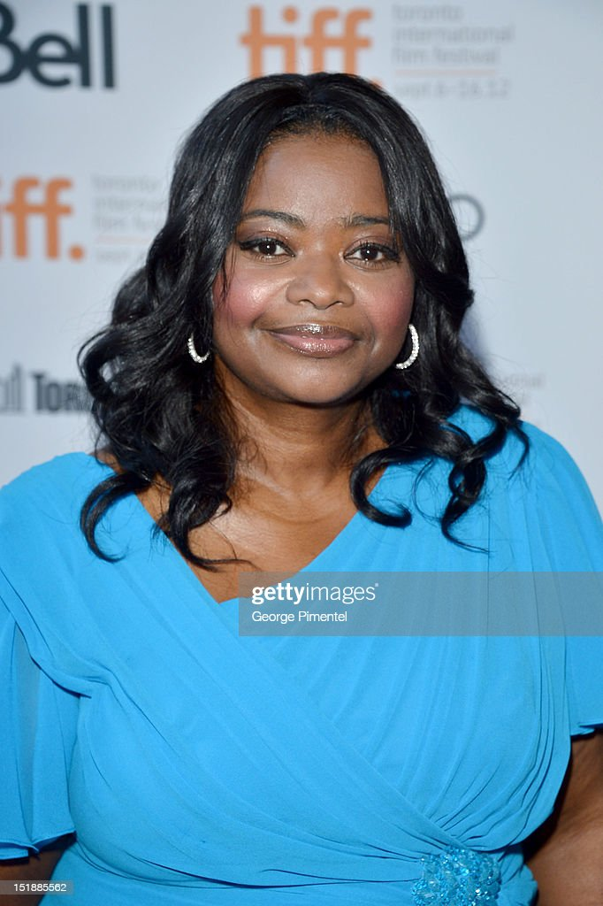 Actress <a gi-track='captionPersonalityLinkClicked' href=/galleries/search?phrase=Octavia+Spencer&family=editorial&specificpeople=2538115 ng-click='$event.stopPropagation()'>Octavia Spencer</a> attends the 'Smashed' Premiere during 2012 Toronto International Film Festival at Ryerson Theatre on September 12, 2012 in Toronto, Canada.