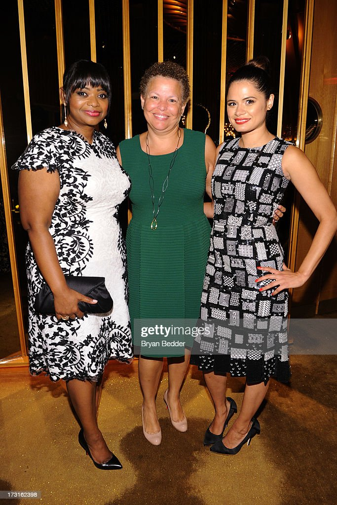 Actress Octavia Spencer, CEO of BET Debra L. Lee and actress Melonie Diaz attend the after party at the New York premiere of FRUITVALE STATION, hosted by The Weinstein Company, BET Films and CIROC Vodka on July 8, 2013 in New York City.