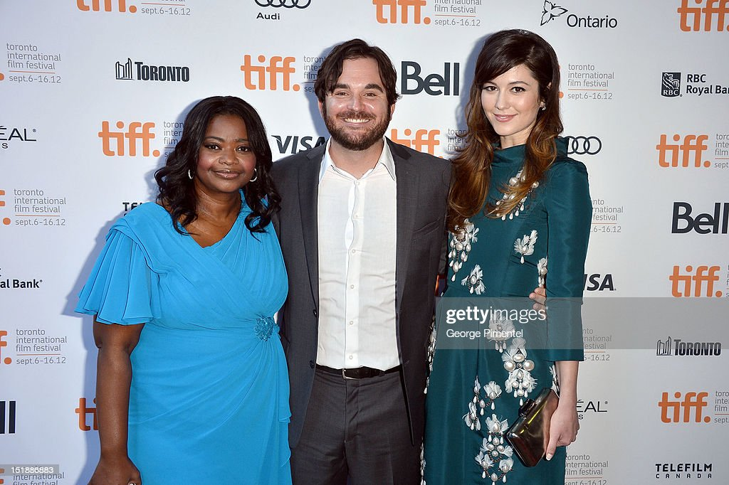 Actress <a gi-track='captionPersonalityLinkClicked' href=/galleries/search?phrase=Octavia+Spencer&family=editorial&specificpeople=2538115 ng-click='$event.stopPropagation()'>Octavia Spencer</a>, director James Ponsoldt, and actress <a gi-track='captionPersonalityLinkClicked' href=/galleries/search?phrase=Mary+Elizabeth+Winstead&family=editorial&specificpeople=782914 ng-click='$event.stopPropagation()'>Mary Elizabeth Winstead</a> attend the 'Smashed' Premiere during 2012 Toronto International Film Festival at Ryerson Theatre on September 12, 2012 in Toronto, Canada.