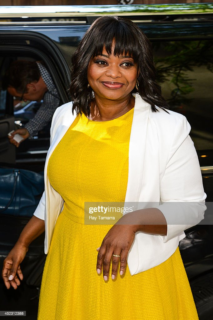 Actress <a gi-track='captionPersonalityLinkClicked' href=/galleries/search?phrase=Octavia+Spencer&family=editorial&specificpeople=2538115 ng-click='$event.stopPropagation()'>Octavia Spencer</a> leaves the 'Today Show' taping at the NBC Rockefeller Center Studios on July 17, 2014 in New York City.