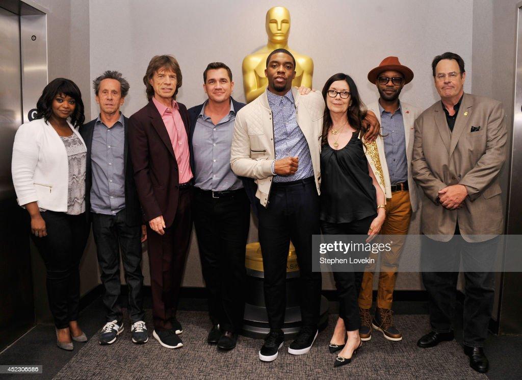Actress Octavia Spencer producer Brian Grazer singer/producer Mick Jagger director Tate Taylor actor Chadwick Boseman producer Victoria Pearman actor...
