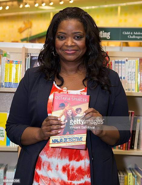 Actress Octavia Spencer signs and discusses her new book 'The Sweetest Heist In History' at Barnes Noble bookstore at The Grove on April 2 2015 in...