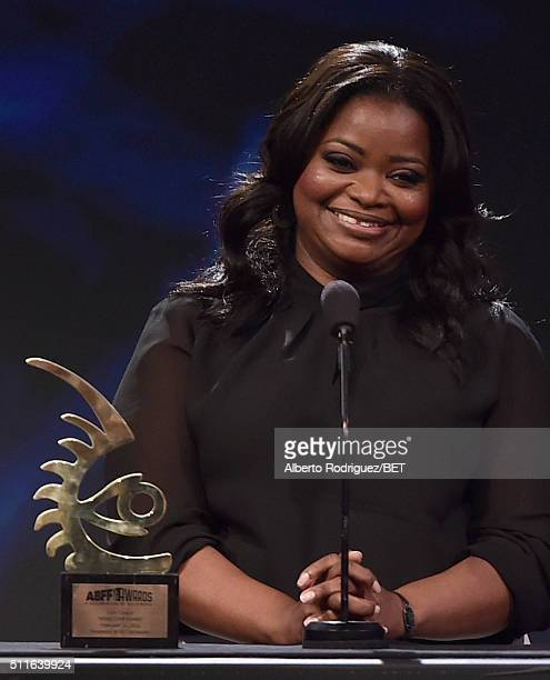 Actress Octavia Spencer speaks onstage during the 2016 ABFF Awards A Celebration Of Hollywood at The Beverly Hilton Hotel on February 21 2016 in...