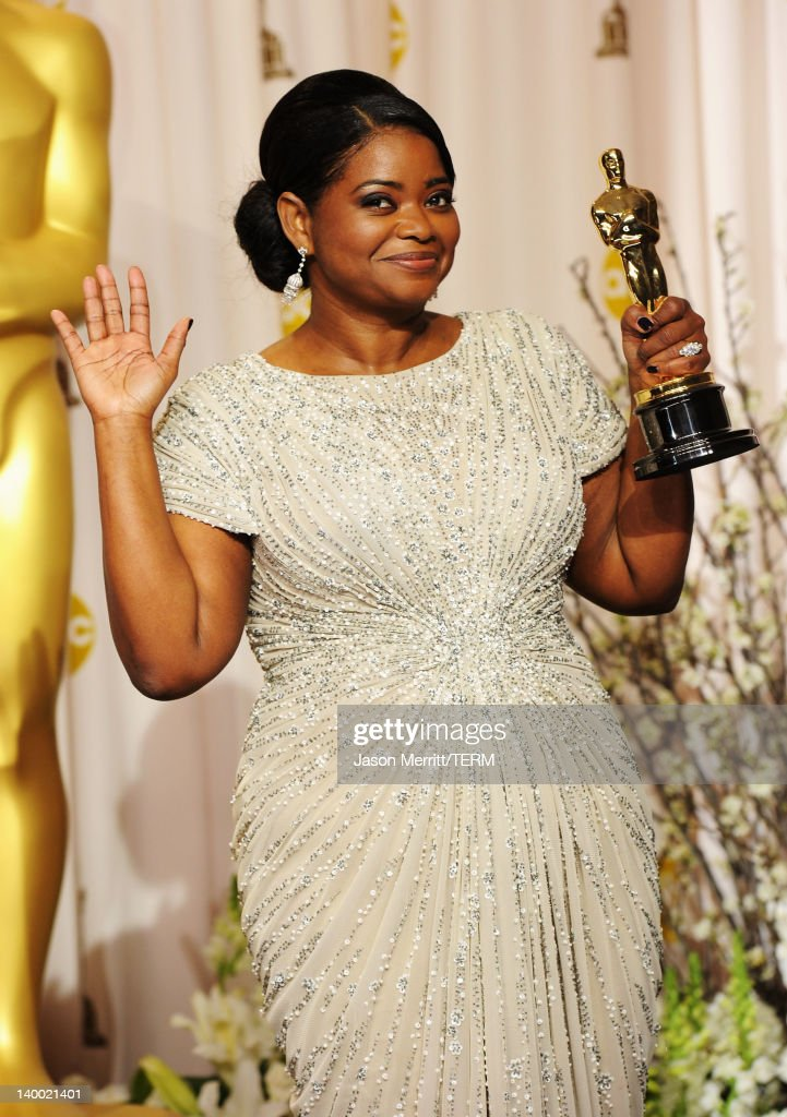 Actress Octavia Spencer winner of the Best Supporting Actress Award for 'The Help' poses in the press room at the 84th Annual Academy Awards held at...