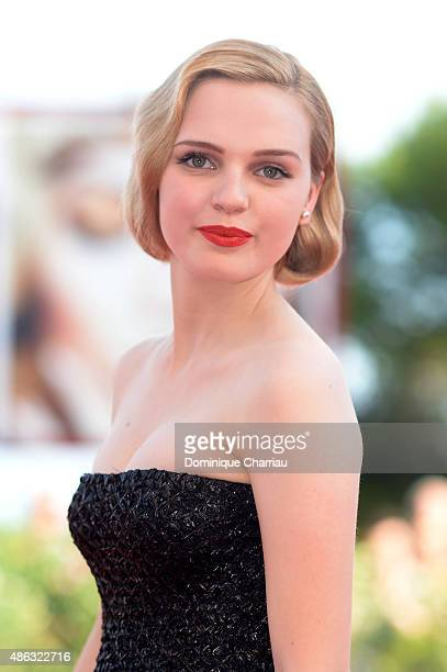 Actress Odessa Young attends the premiere of 'Looking For Grace' during the 72nd Venice Film Festival at Sala Grande on September 3 2015 in Venice...