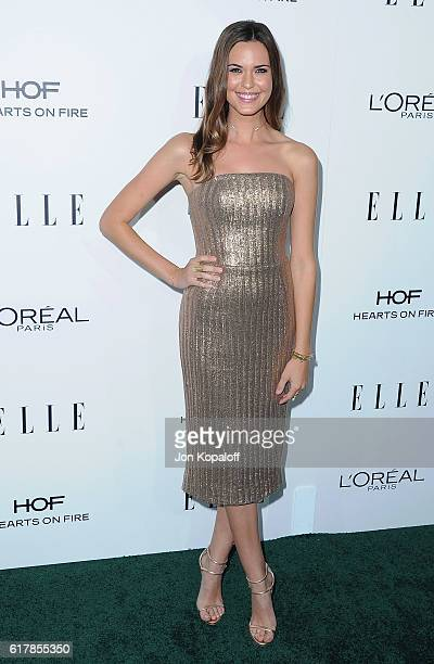 Actress Odette Annable arrives at the 23rd Annual ELLE Women In Hollywood Awards at Four Seasons Hotel Los Angeles at Beverly Hills on October 24...