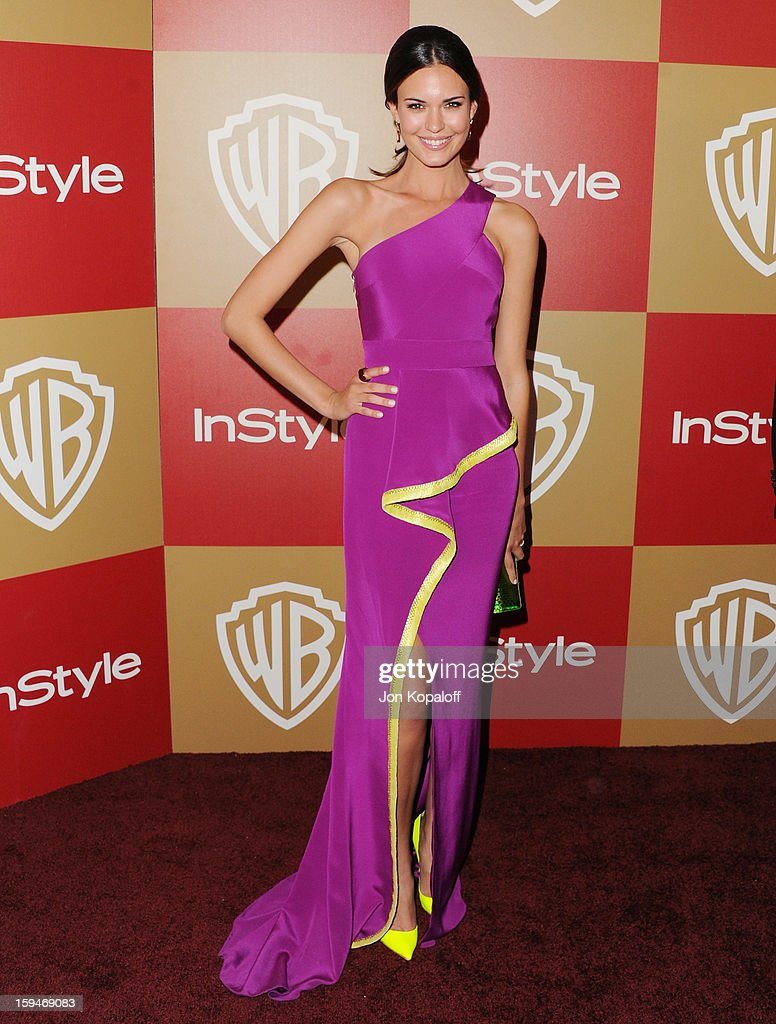 Actress Odette Annable arrives at the InStyle And Warner Bros. Golden Globe Party at The Beverly Hilton Hotel on January 13, 2013 in Beverly Hills, California.