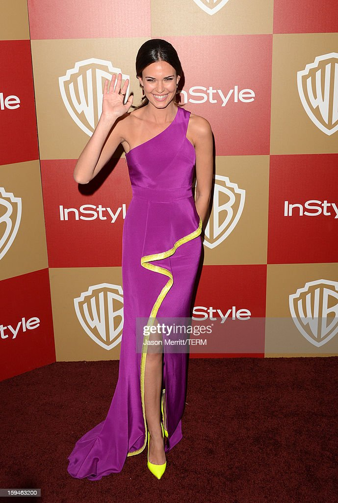 Actress Odette Annable attends the 14th Annual Warner Bros. And InStyle Golden Globe Awards After Party held at the Oasis Courtyard at the Beverly Hilton Hotel on January 13, 2013 in Beverly Hills, California.