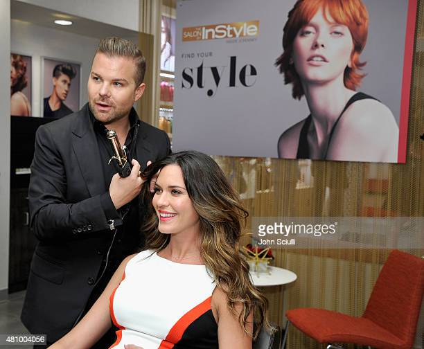 Actress Odette Annable celebrates the launch of The Salon by InStyle located exclusively at JCPenney along with senior creative director Nick Stenson...