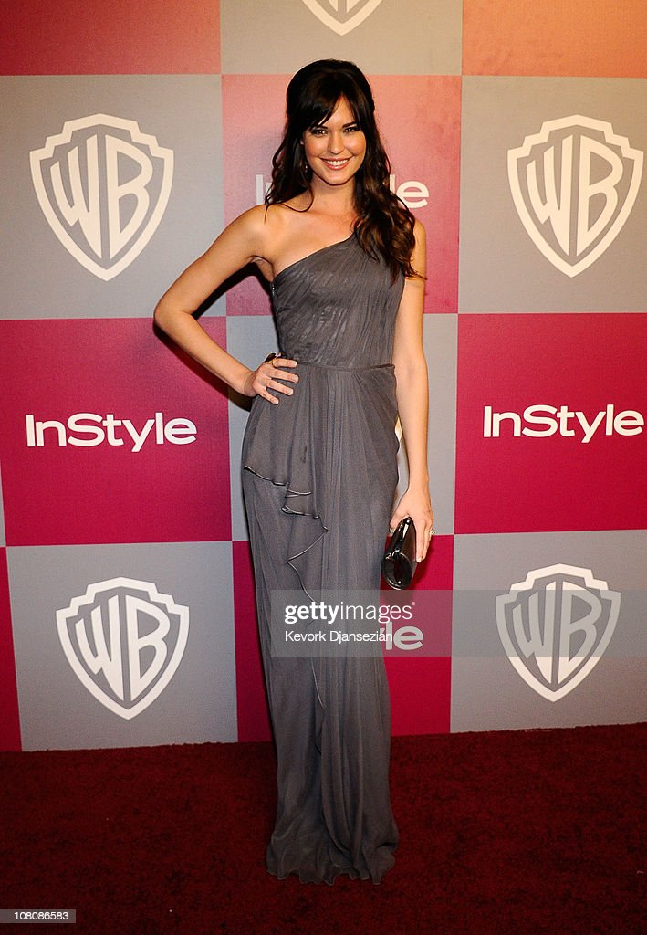 Actress Odette Yustman arrives at the 2011 InStyle And Warner Bros. 68th Annual Golden Globe Awards post-party held at The Beverly Hilton hotel on January 16, 2011 in Beverly Hills, California.