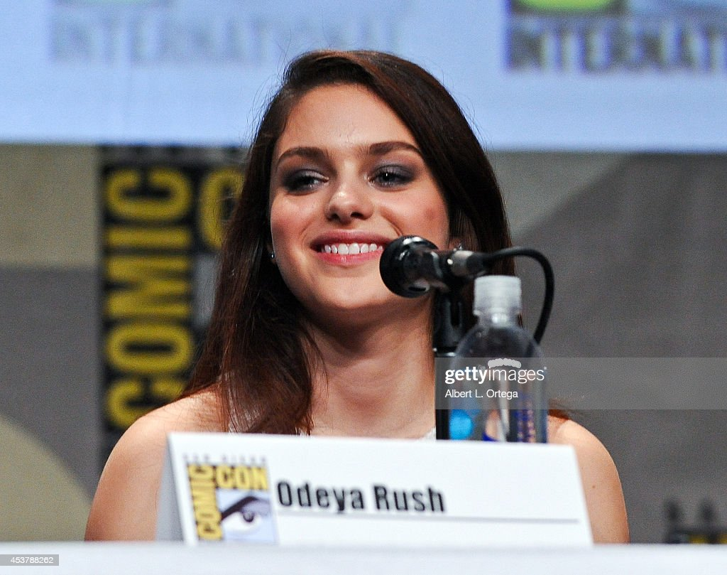 Actress Odeya Rush at 'The Giver' Presentation ComicCon International 2014 held at San Diego Convention Center on July 24 2014 in San Diego California