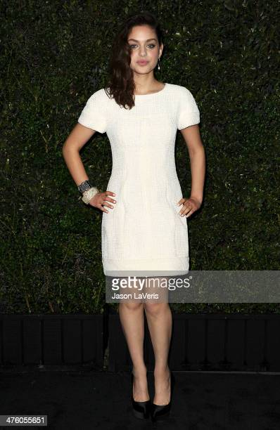 Actress Odeya Rush attends the Chanel and Charles Finch preOscar dinner at Madeo Restaurant on March 1 2014 in Los Angeles California