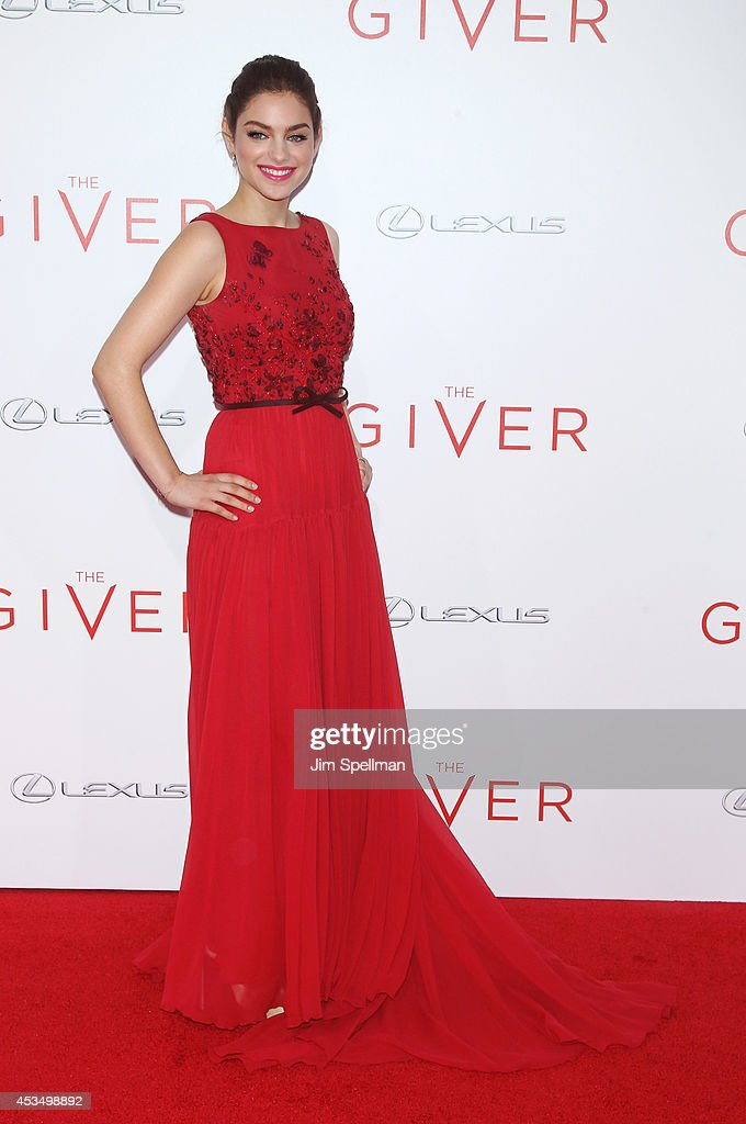 Actress <a gi-track='captionPersonalityLinkClicked' href=/galleries/search?phrase=Odeya+Rush&family=editorial&specificpeople=9620554 ng-click='$event.stopPropagation()'>Odeya Rush</a> attends 'The Giver' premiere at Ziegfeld Theater on August 11, 2014 in New York City.
