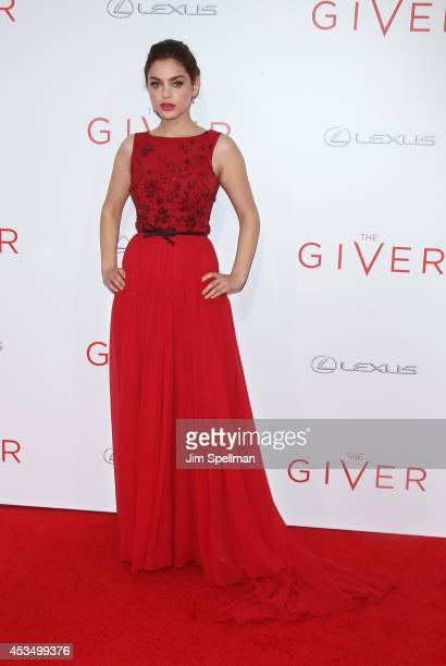 Actress Odeya Rush attends 'The Giver' premiere at Ziegfeld Theater on August 11 2014 in New York City