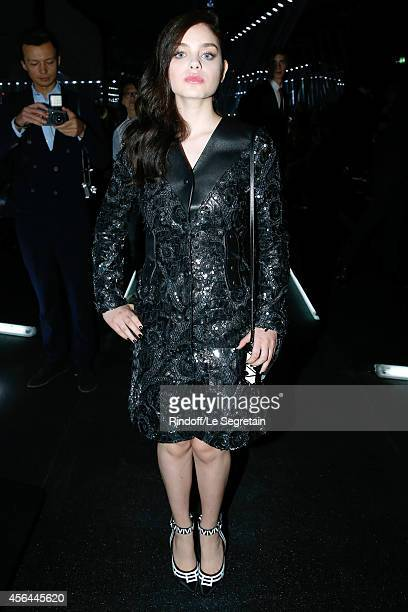 Actress Odeya Rush attends the Louis Vuitton show as part of the Paris Fashion Week Womenswear Spring/Summer 2015 on October 1 2014 in Paris France