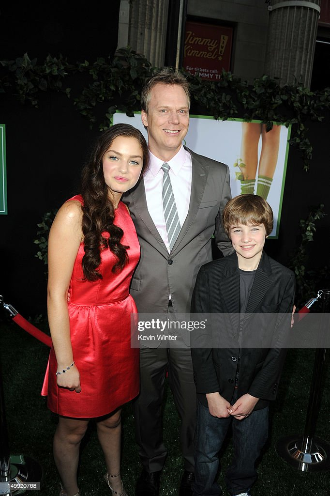 Actress Odeya Rush, director Peter Hedges, and actor CJ Adams arrive at the premiere of Walt Disney Pictures' 'The Odd Life of Timothy Green' at the El Capitan Theatre on August 6, 2012 in Hollywood, California.