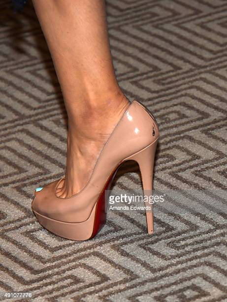 Actress Odeya Rush shoe detail attends the photo call for Sony Pictures Entertainment's 'Goosebumps' at The London West Hollywood on October 2 2015...