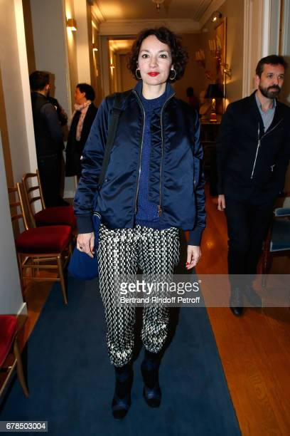 Actress of 'Barbara' Jeanne Balibar attends Audrey Azoulay French Minister of Culture and Communication hosts a Reception for selected French movies...