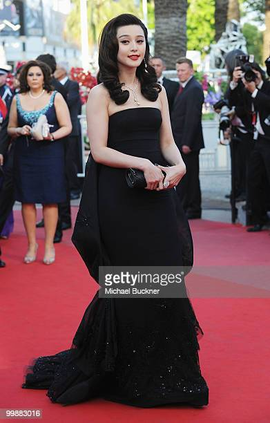 Actress of Fan Bing Bing attends the 'Of Gods And Men' Premiere at the Palais des Festivals during the 63rd Annual Cannes Film Festival on May 18...