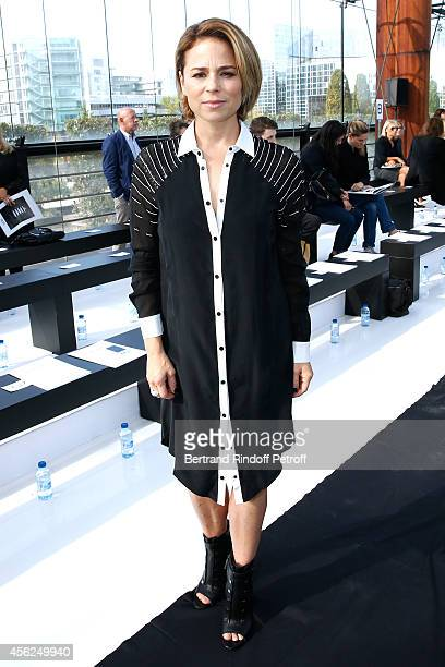 Actress of movie 'Mommy' Jury Price at Cannes Film Festival Suzanne Clement attends the Maxime Simoens show as part of the Paris Fashion Week...