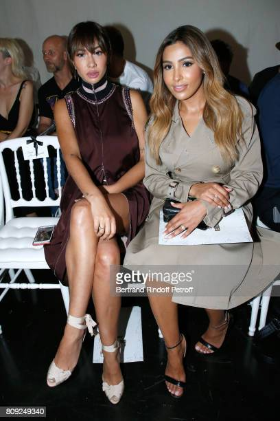 Actress of Netflix TV Series 'Orange Is the New Black' Jackie Cruz and Majda Sakho attend the Jean Paul Gaultier Haute Couture Fall/Winter 20172018...