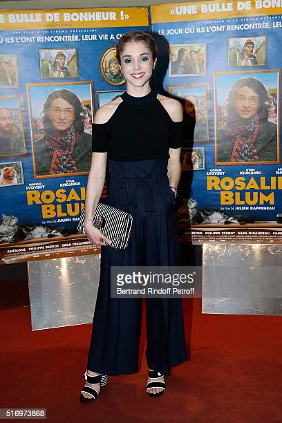 Actress of the movie Alice Isaaz attends the 'Rosalie Blum' Paris Premiere at UGC Cine Cite des Halles on March 22 2016 in Paris France