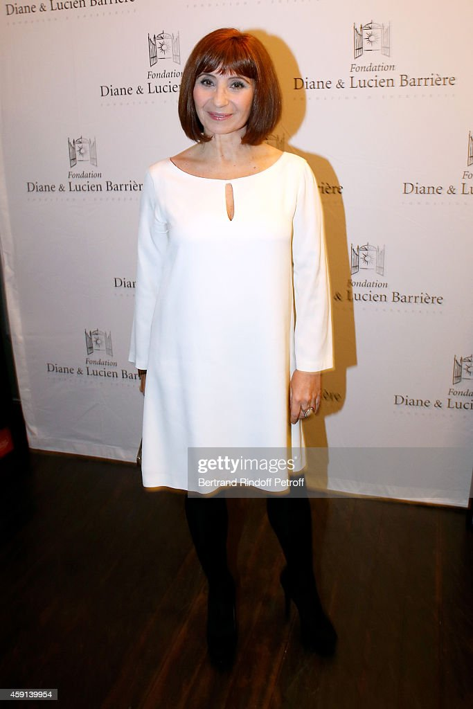 Actress of the movie Ariane Ascaride attends 'Les Heritiers' receives Cinema Award 2014 of Foundation Diane & Lucien Barriere during the premiere of the movie at Publicis Champs Elysees on November 17, 2014 in Paris, France.