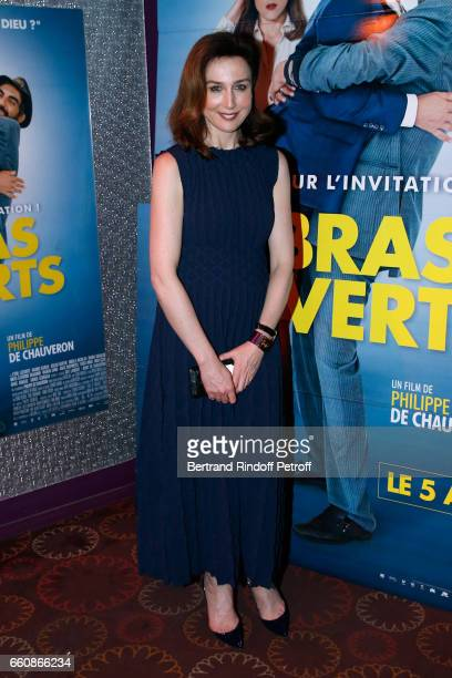 Actress of the movie Elsa Zylberstein dressed in Azzedine Alaia attends the 'A bras ouverts' Paris Premiere at Cinema Gaumont Opera on March 30 2017...