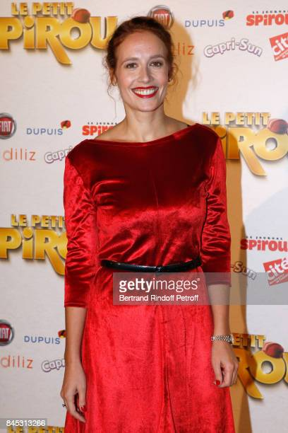 ACtress of the movie Gwendolyn Gourvenec attends the 'Le Petit Spirou' Paris Premiere at Le Grand Rex on September 10 2017 in Paris France