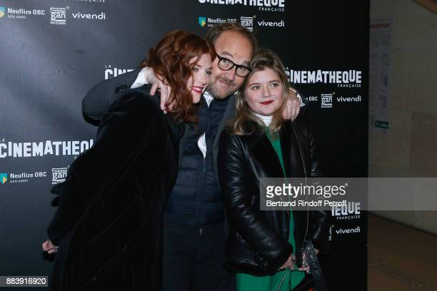 Actress of the movie Iris Bry Director of the movie Xavier Beauvois and Actress of the movie Mathilde ViseuxEly attend the 'Les Gardiennes' Paris...