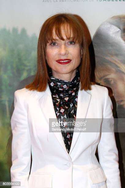 Actress of the movie Isabelle Huppert attends the 'Barrage' Paris Premiere at UGC Odeon on June 29 2017 in Paris France