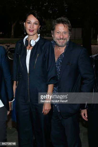 Actress of the movie Jeanne Balibar and director/actor of the movie Mathieu Amalric attend the 'Barbara' Paris Premiere at Cinematheque Francaise on...