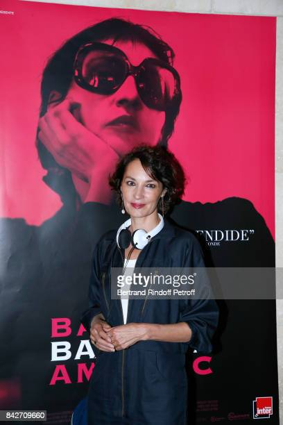 Actress of the movie Jeanne Balibar attends the 'Barbara' Paris Premiere at Cinematheque Francaise on September 4 2017 in Paris France