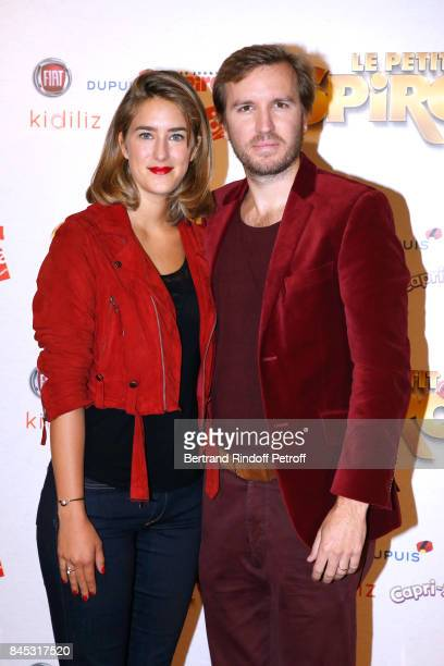 Actress of the movie Juliette Aver and her husband Director of the movie Nicolas Bary attend the 'Le Petit Spirou' Paris Premiere at Le Grand Rex on...