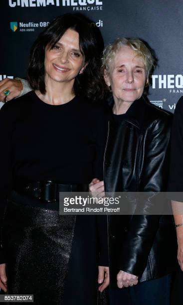Actress of the movie Juliette Binoche and director and coscriptwriter of the movie Claire Denis attend the 'Un beau soleil interieur' Paris Premiere...