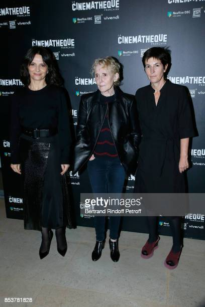 Actress of the movie Juliette Binoche director and coscriptwriter of the movie Claire Denis and coscriptwriter of the movie Christine Angot attend...