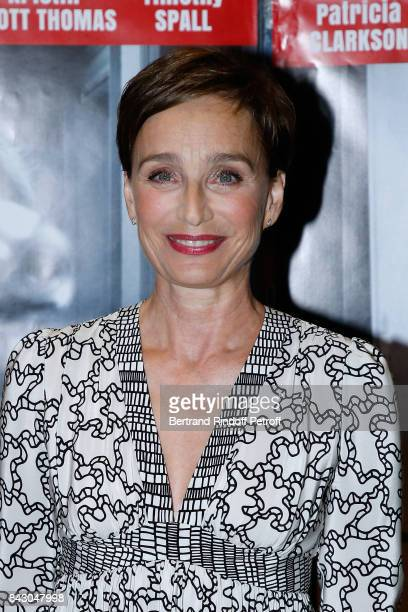 Actress of the movie Kristin Scott Thomas attends the 'The Party' Paris Premiere at UGC Cine Cite des Halles on September 5 2017 in Paris France