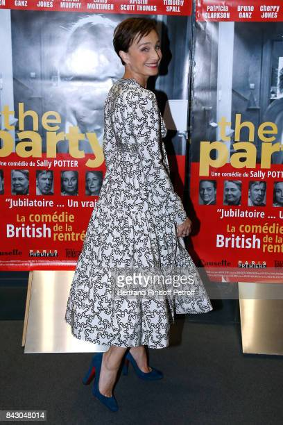 Actress of the movie Kristin Scott Thomas dressed in Valentino attends the 'The Party' Paris Premiere at UGC Cine Cite des Halles on September 5 2017...