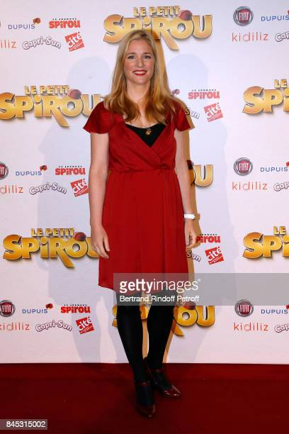 Actress of the movie Natacha Regnier attends the 'Le Petit Spirou' Paris Premiere at Le Grand Rex on September 10 2017 in Paris France