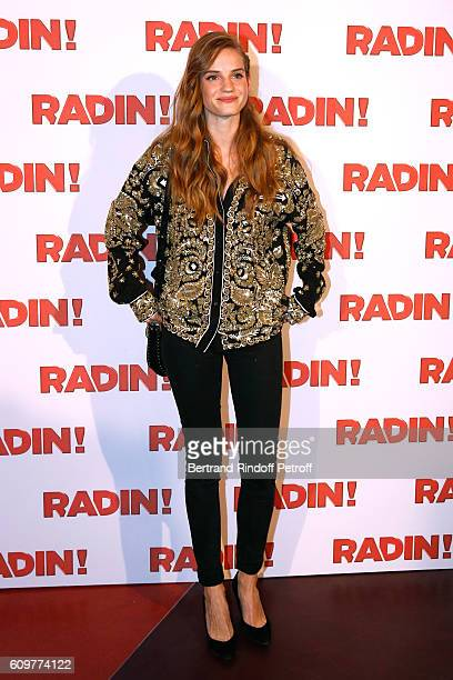 Actress of the movie Noemie Schmidt attends the 'Radin' Paris Premiere at Cinema Gaumont Opera on September 22 2016 in Paris France
