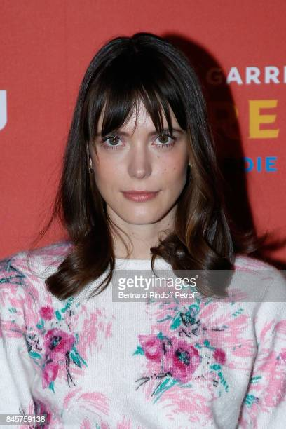 Actress of the movie Stacy Martin attends the 'Le Redoutable' Paris Premiere at Cinema du Pantheon on September 11 2017 in Paris France