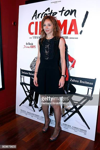 Actress of the movie Sylvie Testud attends the 'Arrete Ton Cinema ' Paris Premiere at Publicis Champs Elysees on January 6 2016 in Paris France