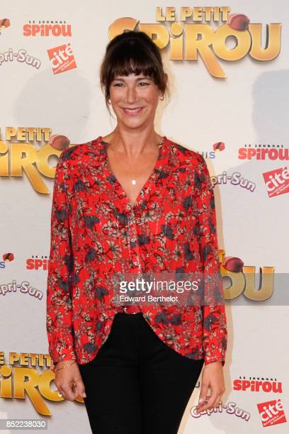 Actress of the movie Virginie Hocq attends the 'Le Petit Spirou' Paris Premiere at Le Grand Rex on September 10 2017 in Paris France