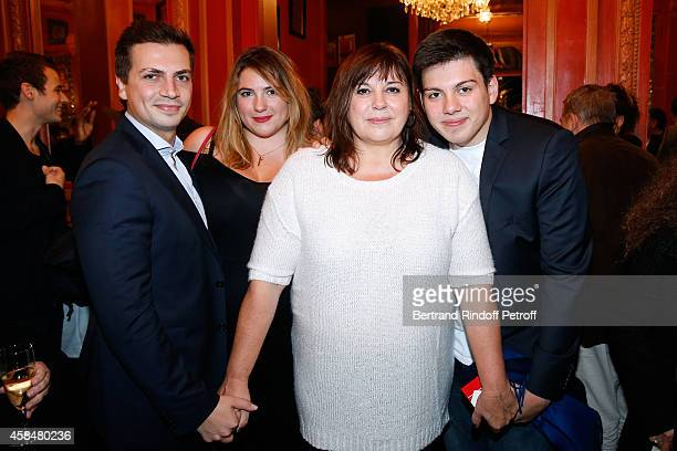 Actress of the piece Michele Bernier her daughter Charlotte Gaccio with her husband Sebastien Pons and her son Enzo Gaccio attend the 'Je prefere...